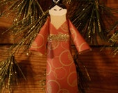 CHRISTMAS SALE see shop home for details Wooden clothespin doll Ornaments Japanese Geisha Christmas . Asian inspired ethnic decorations