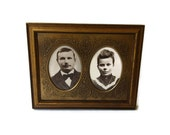 Antique Bronze Plate  Portrait Frame