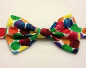 Very hungry caterpillar dots baby bow tie