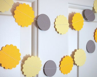 Yellow Paper Garlands for Party/Shower Decoration