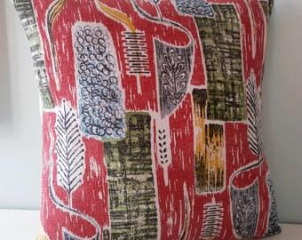 Vintage 50s 40s retro Cushion / Pillow cover