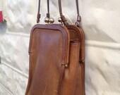 SOLD   COACH  Bonnie Cashin Double  Kiss Lock Shoulder Bag