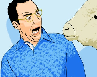 """Arrested Development Buster Bluth Photobooth Sheep 11"""" x 14"""" Print"""