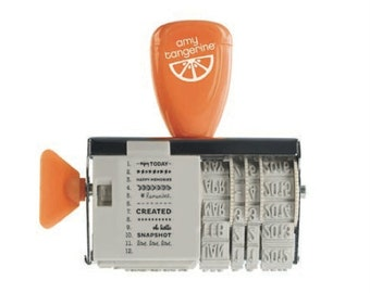 "New In Stock - Amy Tangerine ""Ready Set Go"" Roller Date Stamp"