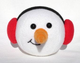 Snowman snowball plush ball toy
