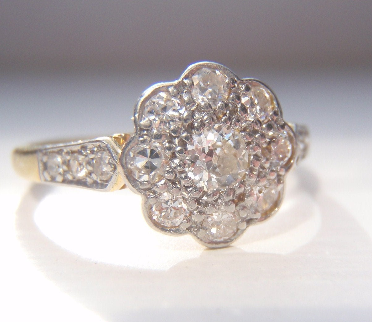 reserved for tom vintage engagement ring by