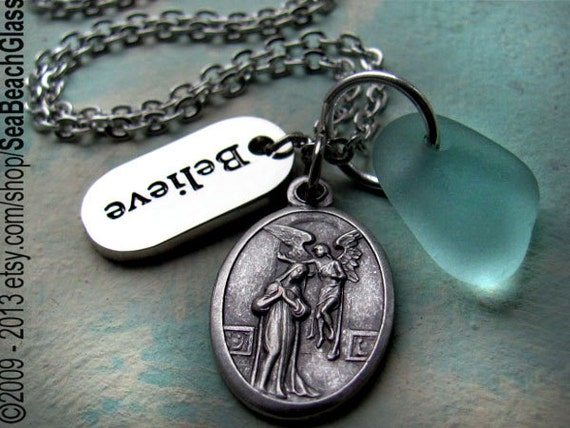 Fertility necklace st gerard or annunciation expectant like this item aloadofball Image collections