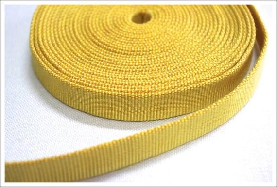 50% OFF SALE..... Japanese Sanada-Himo Lemon Yellow Flat Cord, By Meter / Yard, Himo-602