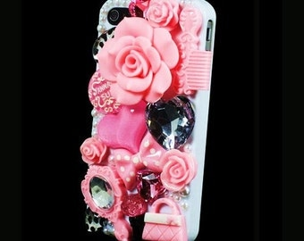 iPhone 5 Decoden Style Pink Fashion Designer Bling case