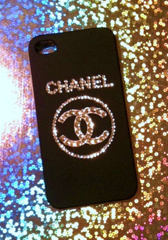 chanel iphone case iphone 4 and iphone 4s deco chanel swarovski bling 10355