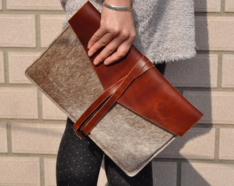 iPad Pro 12.9‑inch Leather Laptop bag sleeve cover