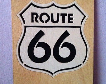 Route 66 scroll saw wall art