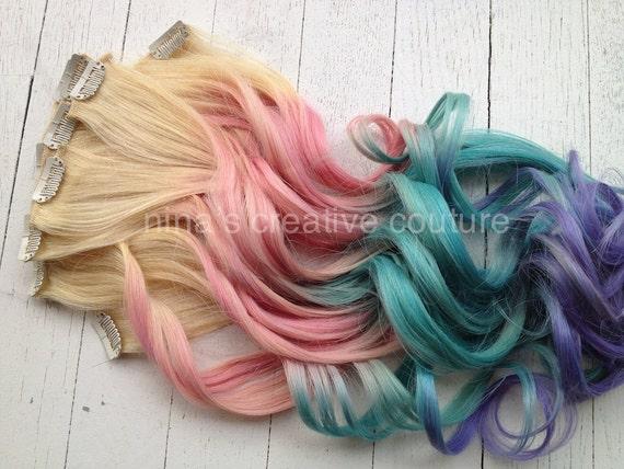 pastel tie dye hair blonde ombre hair extensions by studioshe. Black Bedroom Furniture Sets. Home Design Ideas