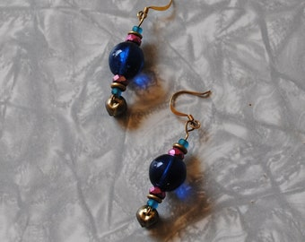 Blue bell earrings*