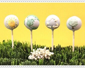 Earth Themed Cake Pops