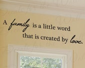 Family a Little Word that Created by Love Home Decorative Vinyl Large Wall Decal Lettering Decoration Quote Decor Sticker Art Mural F29