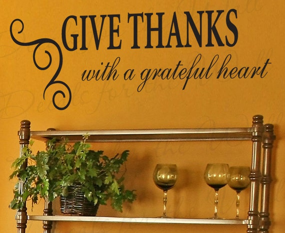 Items Similar To Give Thanks With Grateful Heart Kitchen