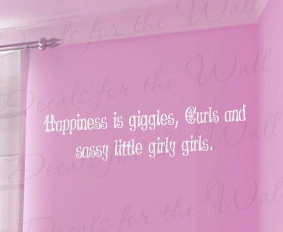 Sassy little girl room kid baby nursery adhesive vinyl lettering quote