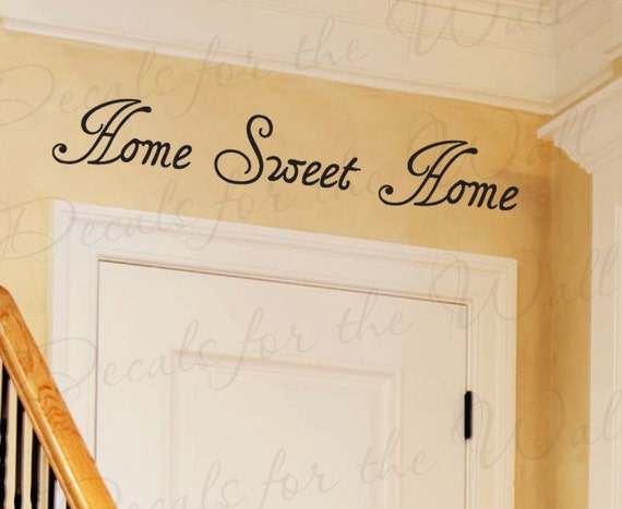 Modern Foyer Quotes : Home sweet entryway entry family by decalsforthewall