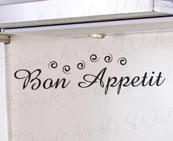 Bon Appetit French Kitchen Dining Room by DecalsForTheWall on Etsy