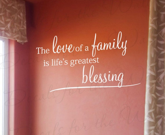The Love Family Lifes Greatest Blessing Home Home Religious God Christ Christian Bible Vinyl Quote Art Wall Decal Sticker Decor F66