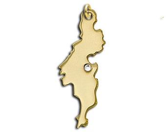 Gold Tortola charm