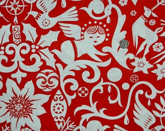 Joy by Alexander Henry in Red - Fabric By The Yard