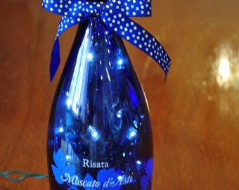 Blue Moscato                                                     Lighted Moscato Wine Bottle Lamp