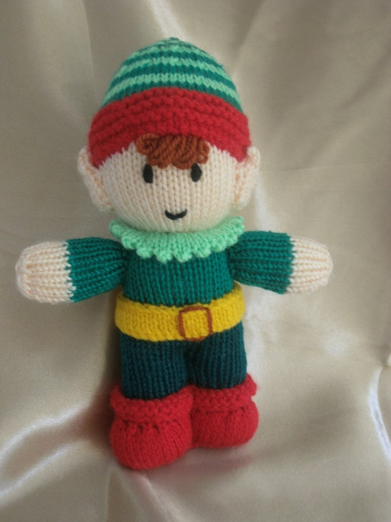 Christmas Elf Santa's Little Helper Knitted by Meganknits4charity