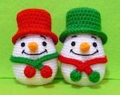 Crochet  Egg Egg Warmer Snow man on Christmas - Finish Item