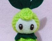Crochet Petilil from Pokemon Amigurumi- Finish Doll