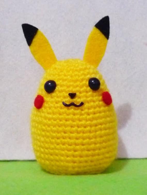 Hacer Amigurumi Pokemon : Items similar to Pikachu Pokemon huevo caliente Amigurumi ...