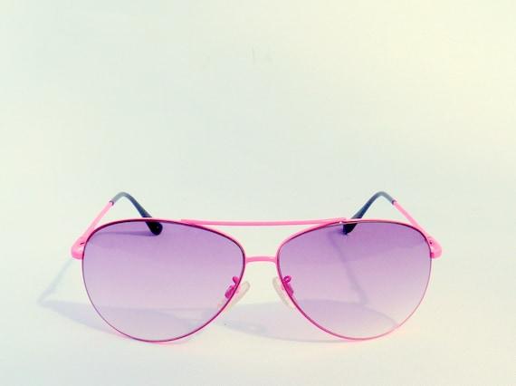 Sunglasses Neon Pink Vintage Shades 1980s Accessories Summer Fashion