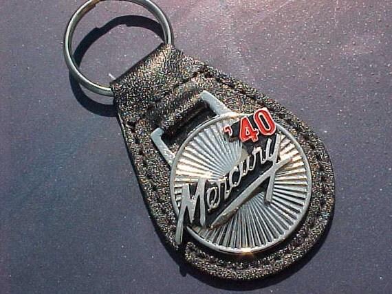 1940 Mercury Silver Star Classic Collector Car Leather Key Fob