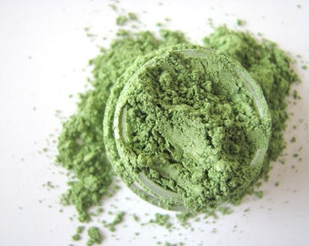 Radioactive Green - Mineral Makeup - Mineral Eyeshadow - Natural Mineral Eye Color - Pigment