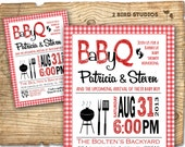 Baby shower invitation - Barbecue BaBy Q baby shower invite- DIY coed barbecue couples shower printable invite