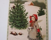 Holiday Sale Printed in Germany Antique Embossed Christmas Postcard (Early 20th Century)