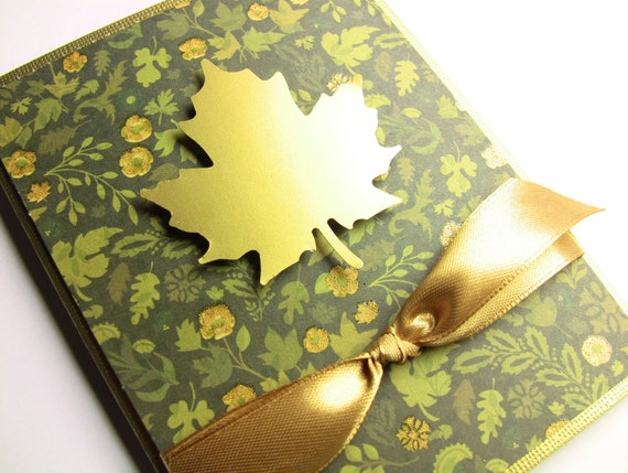 Source: Thanksgiving Card Fall Card Autumn Card Golden Autumn Leaf On Etsy