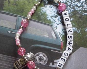 Pink Volkswagen Beetle Bracelet