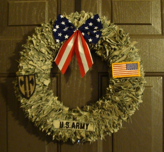 Door Decoration Home Decor Military Wreath Patriotic Wreath