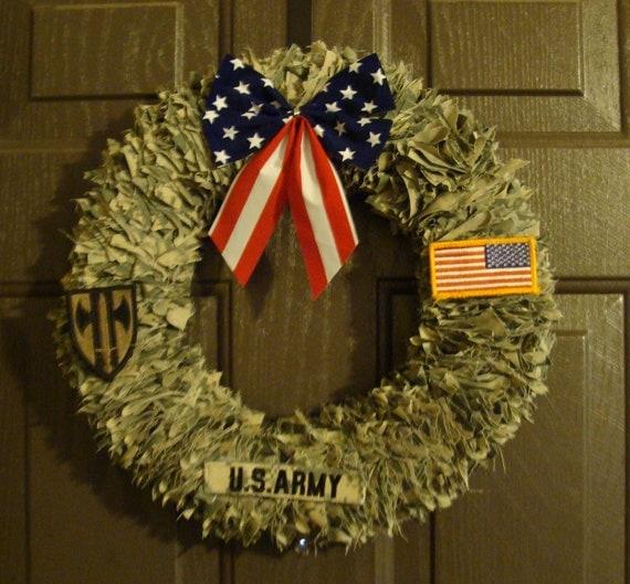 Door Decoration Home Decor Military Wreath Patriotic Wreath