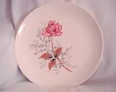 Dinner Plate Canonsburg Pottery Vintage Royal Rose 1950s Mid Century Modern Retro