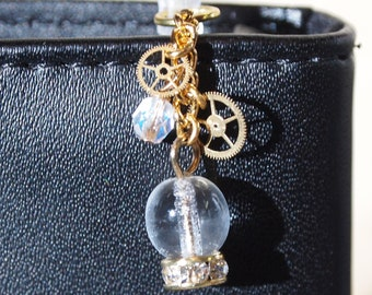 Crystal ball steampunk AUX charm
