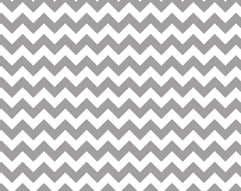 Small Chevron in  Grey  by Riley Blake