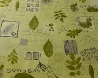 Leaves in Soft Green and Lavender from Mrs March's Harvest Spring Collection for Lecien