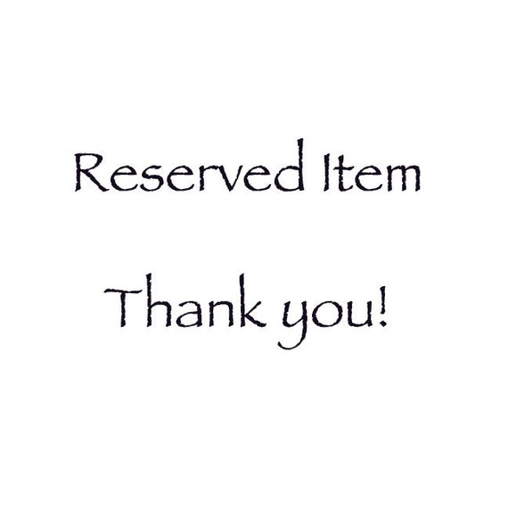 reserved item for Rina, Please do not purchase