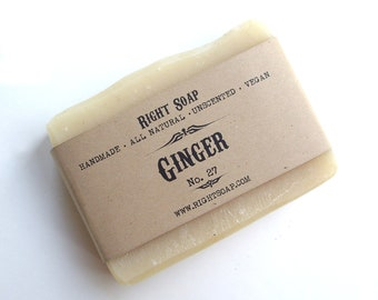 Ginger soap - Natural Soap, Unscented soap, Vegan Soap, Handmade Soap
