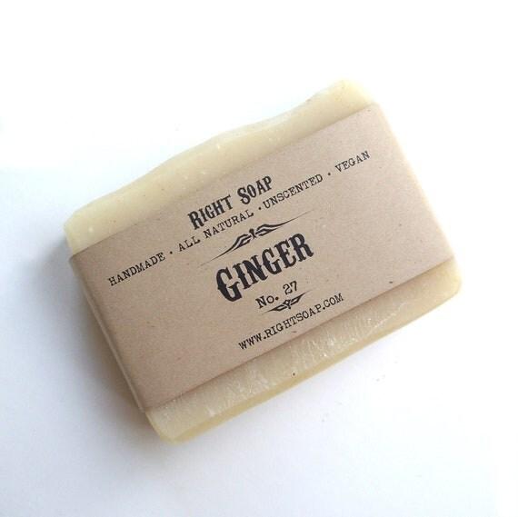 Ginger soap - Natural Soap, Unscented soap, Vegan Soap, Handmade Soap