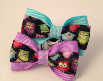 Owl-y Hair Bow - 2 inches