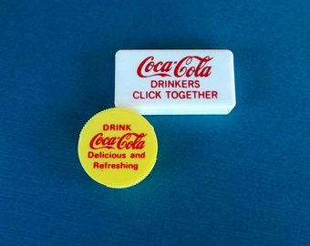 Vintage Coca Cola Pencil Sharpener And Clicker 1980s